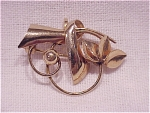 VINTAGE COSTUME JEWELRY -  12K GOLD FILLED WATCH HOLDER BROOCH SIGNED CARL-ART