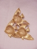 Click to view larger image of COSTUME JEWELRY - LARGE MATTE GOLD TONE BROOCH OF 3 SWIMMING FISH (Image2)