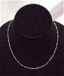 VINTAGE COSTUME JEWELRY - DAINTY SILVER TONE CHOKER NECKLACE SIGNED VENDOME