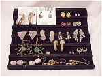 COSTUME JEWELRY - 16 PAIRS OF PIERCED EARRINGS - SIGNED, RHINESTONE, PEARL, STERLING SILVER