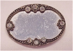 Click here to enlarge image and see more about item 41248: SILVER TONE RHINESTONE AND MIRROR BROOCH
