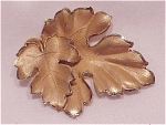 VINTAGE DANECRAFT 12K GOLD FILLED OAK LEAF BROOCH OR PENDANT