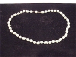 Click here to enlarge image and see more about item 4532: BAROQUE OR POTATO PEARL CHOKER NECKLACE