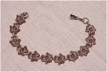 Click here to enlarge image and see more about item 04J889: VINTAGE JEWELRY -  ART NOUVEAU STERLING SILVER BRACELET SIGNED BEAU STERLING
