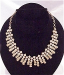 VINTAGE COSTUME JEWELRY - SARAH COVENTRY RHINESTONE & PEARL CHOKER - BOOK PIECE