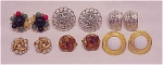 VINTAGE COSTUME JEWELRY - 6 PAIR OF CLIP EARRINGS - 4 SIGNED - LISNER, CORO, NAPIER