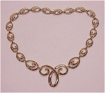 COSTUME JEWELRY - VINTAGE GOLD TONE SWIRL CHOKER NECKLACE