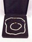 Click here to enlarge image and see more about item 51691: FRESHWATER POTATO PEARL CHOKER NECKLACE AND BRACELET SET