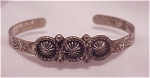 COSTUME JEWELRY - VINTAGE SANFORD CHILD'S NATIVE AMERICAN SILVER CUFF BRACELET