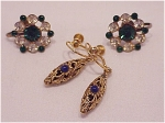 COSTUME JEWELRY - 2 PAIRS OF VINTAGE SCREWBACK EARRINGS - RHINESTONE, FILIGREE