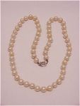 VINTAGE COSTUME JEWELRY - SARAH COVENTRY FAUX PEARL NECKLACE WITH STERLING SILVER CLASP