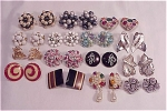 VINTAGE COSTUME JEWELRY - LOT OF 15 PAIRS OF CLIP EARRINGS - 6 SIGNED, SOME VINTAGE