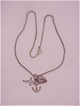 STERLING SILVER CHAIN WITH FAITH, HOPE AND CHARITY CHARMS