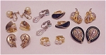 COSTUME JEWELRY - 8 PAIRS OF VINTAGE CLIP EARRINGS - 3 SIGNED, RHINESTONES, CRYSTAL