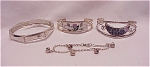 COSTUME JEWELRY - 4 BRACELETS  - 1 STERLING SILVER, 2 SIGNED MEXICO ALPACA, 1 WITH RHINESTONES