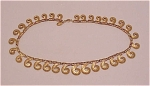 COSTUME JEWELRY - VINTAGE VENDOME BRUSHED GOLD TONE SWIRL CHOKER NECKLACE