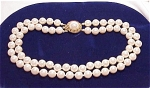 VINTAGE DOUBLE STRAND PEARL CHOKER NECKLACE