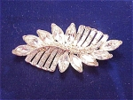 VINTAGE COSTUME JEWELRY - PELL LARGE CLEAR RHINESTONE BROOCH