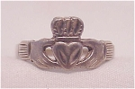 VINTAGE STERLING SILVER CLADDAUGH RING SIGNED LLC