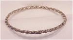 Click to view larger image of VINTAGE HANDMADE POSSIBLE STERLING SILVER BANGLE BRACELET (Image1)