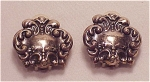 Click here to enlarge image and see more about item 06J2232: COSTUME JEWELRY - ART NOUVEAU STYLE POSSIBLE STERLING SILVER CLIP EARRINGS