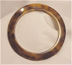 VINTAE COSTUME JEWELRY - TORTOISESHELL MARBLED BAKELITE BANGLE BRACELET