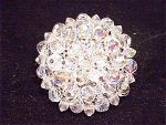 VINTAGE AURORA BOREALIS CRYSTAL BROOCH - POSSIBLE UNSIGNED WEISS