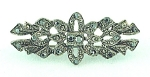 COSTUME JEWELRY - SILVER TONE BROOCH WITH MARCASITES