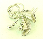 VINTAGE COSTUME JEWELRY - CARL-ART STERLING SILVER ABSTRACT DESIGN BROOCH