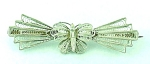 VINTAGE COSTUME JEWELRY - STERLING SILVER FILIGREE BUTTERFLY C CLASP BROOCH
