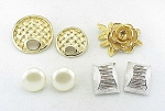 VINTAGE COSTUME JEWELRY - LOT OF SARAH COVENTRY BROOCHES, PINS AND CLIP EARRINGS