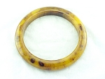 VINTAGE COSTUME JEWELRY - HEAVILY MARBLED TORTOISESHELL BAKELITE BANGLE BRACELET