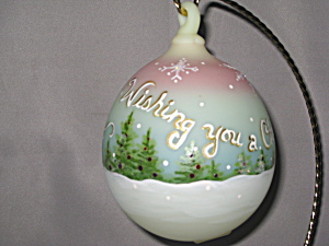 Fenton Green Burmese Holiday Ornament Wishing (Image1)