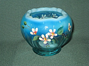 Fenton Spring Song Aurora Rose Bowl (Image1)