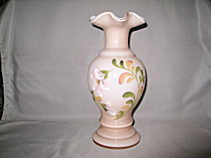 Fenton Baroque Floral On Sunset Overlay Vase