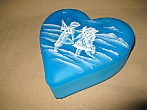 Ltd Ed Mary Gregory Sky Blue Heart Box (Image1)