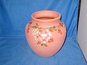 Fenton Floral Burmese Vase (Image1)