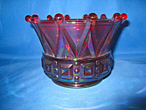 Fenton Crown Candle Bowl Votive In Ruby