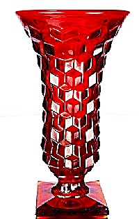 Fenton Ruby Footed American Vase (Image1)