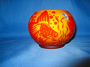 Fenton Cameo Fish Bowl By Kelsey Murphy