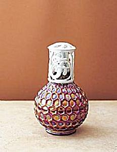 6'' Fenton La-Tee-Da Honeycomb Ruby Lamp (Image1)