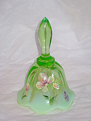 FENTON WIND BLOWN ON KEY LIME OPAL. BELL (Image1)
