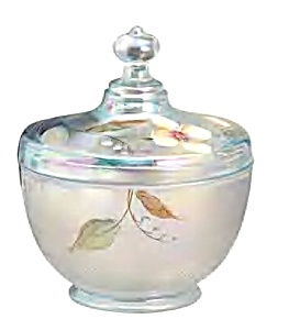 Sand Petals Aquamarine Opalescent Candy Box