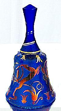 Fenton Sandcarved Bell Prancing by Kelsey (Image1)