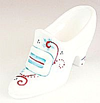 Fenton Milk Glass Holiday Slipper
