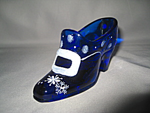 Fenton Cobalt Holiday Slipper