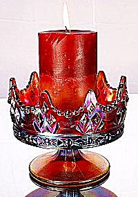 Fenton Crown Candle Bowl in Ruby (Image1)