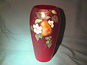 Fenton Horizon's Ruby W/ Pear Vase