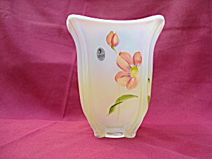 Fenton Square Vase In French Opalescent