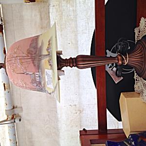 Fenton Autumn Morn Burmese Bell Lamp (Image1)